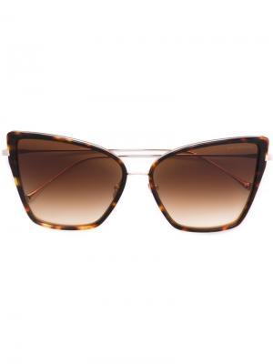 Солнцезащитные очки Sunbird Dita Eyewear. Цвет: коричневый