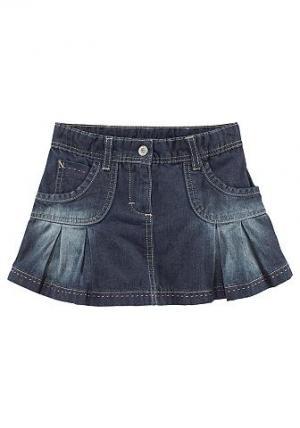 Джинсовая юбка CFL. Цвет: темно-синий