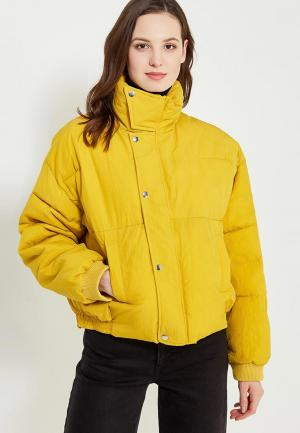 Куртка утепленная Free People. Цвет: желтый