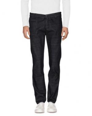 Джинсовые брюки EXIBIT. Цвет: стальной серый