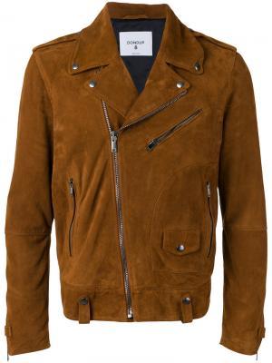 Замшевая байкерская куртка Dondup. Цвет: коричневый
