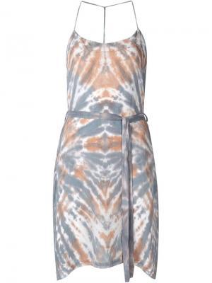 Платье с размытым принтом Raquel Allegra. Цвет: многоцветный