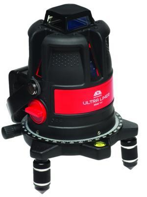 Построитель лазерных плоскостей ADA ULTRALINER 360 2V instruments. Цвет: черный, красный