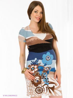 Платье Nuova Vita. Цвет: синий, голубой, бежевый