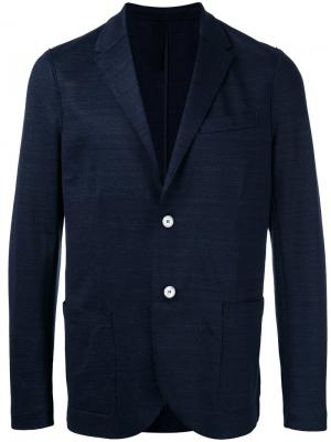 Пиджак с застежкой на пуговицы Harris Wharf London. Цвет: синий