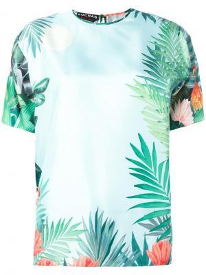 Блузка с цветочным принтом Rochas. Цвет: зелёный