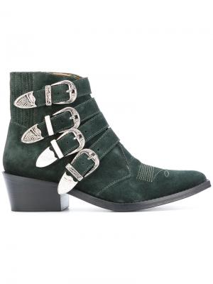Ботинки с ремешками Toga Pulla. Цвет: зелёный