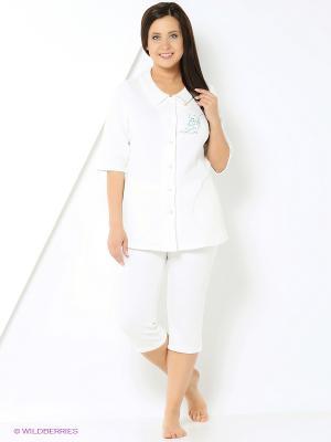 Домашний костюм Forus. Цвет: молочный