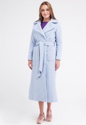 Пальто Malaeva. Цвет: голубой