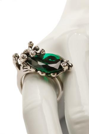 Кольцо FRANSUA ARDY. Цвет: серебряный, зеленый