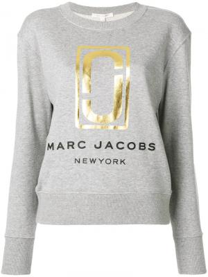Толстовка с логотипом Marc Jacobs. Цвет: серый