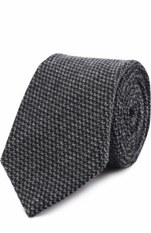 Галстук из смеси кашемира и шелка Ralph Lauren. Цвет: темно-серый