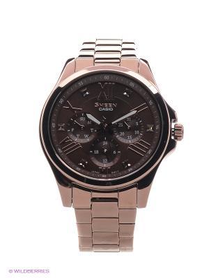 Часы Sheen SHE-3806BR-5A CASIO. Цвет: коричневый