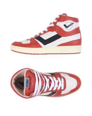 Высокие кеды и кроссовки PONY. Цвет: красный