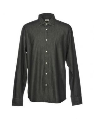 Джинсовая рубашка DEPERLU. Цвет: черный