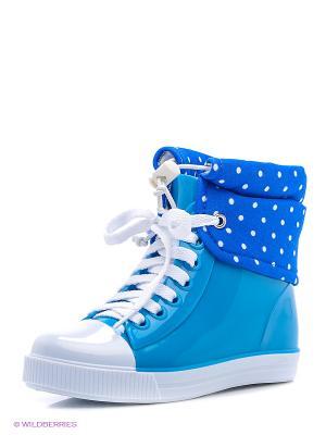 Резиновые сапоги KEDDO. Цвет: синий