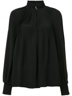 Плиссированная блузка Tibi. Цвет: чёрный
