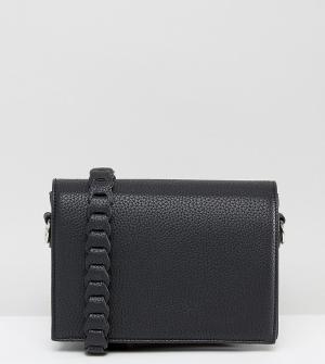 Street Level Черная сумка через плечо с декоративной отделкой. Цвет: черный