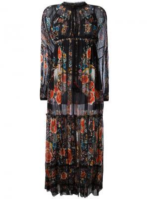 Длинное платье Hippy Roberto Cavalli. Цвет: чёрный
