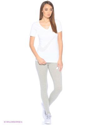 Леггинсы W NSW LGGNG Nike. Цвет: светло-серый, белый