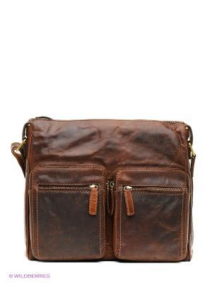 Портфель Gianni Conti. Цвет: бронзовый, темно-коричневый, серый