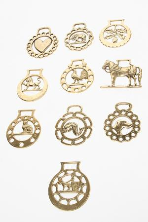Набор из 10 жетонов Stilars. Цвет: золотой