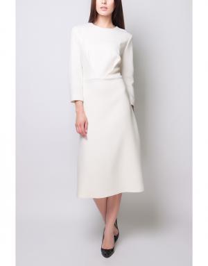 Однотонное платье Poustovit. Цвет: молочный