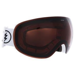 Маска для сноуборда  Eg3.5 Gloss White+Black/Brose Electric. Цвет: белый