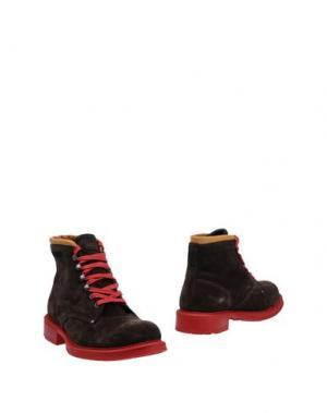 Полусапоги и высокие ботинки KOWALSKI. Цвет: темно-коричневый