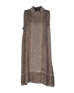 Короткое платье LA FEE MARABOUTEE. Цвет: серый