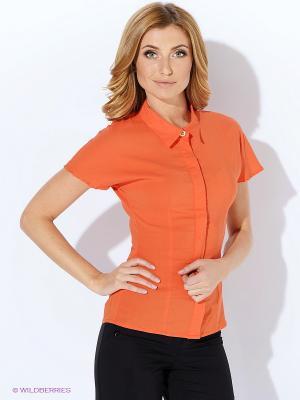 Блузка Yarmina. Цвет: оранжевый