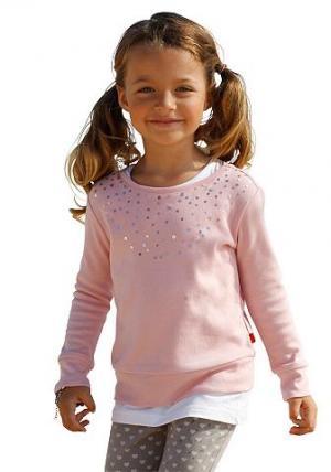 Кофточка с пайетками для девочек, CFL KIDOKI. Цвет: розовый
