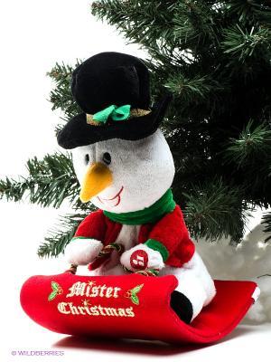 Электромеханическая игрушка Mister Christmas. Цвет: белый, красный, черный