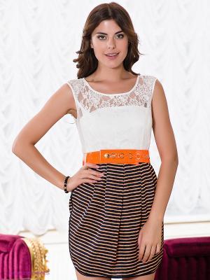 Платье Verezo. Цвет: оранжевый, темно-синий