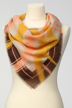 Платок Frantelli. Цвет: желтый, персик, коричневый