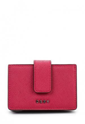 Визитница DKNY. Цвет: фуксия