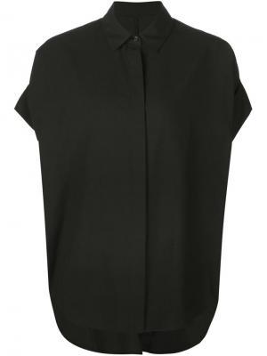 Рубашка с потайной застежкой Totokaelo. Цвет: чёрный