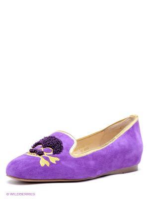 Балетки El Tempo. Цвет: фиолетовый