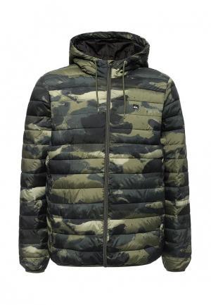 Куртка утепленная Quiksilver. Цвет: хаки