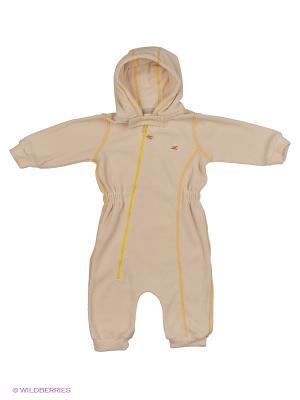 Комбинезон для малышей ЛисФлис. Цвет: желтый, молочный