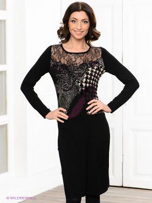 Платье Carat. Цвет: черный, бежевый