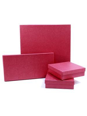 Коробка крафт набор из 4 VELD-CO. Цвет: розовый