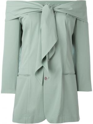 Пиджак с открытыми плечами Jean Paul Gaultier Vintage. Цвет: зелёный