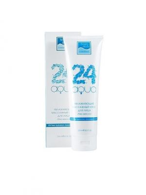 Увлажняющий массажный крем для лица без масла Аква 24 250мл Beauty Style. Цвет: белый