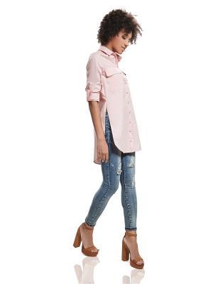 Туника-рубашка Nothing but Love. Цвет: бледно-розовый