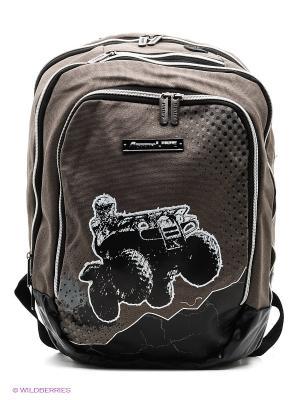 Рюкзак PROFF. Цвет: серо-коричневый, черный