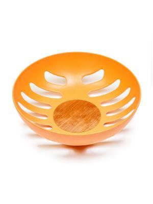 Корзина для фруктов, 21,8*21,8*6,3 см MOULINvilla. Цвет: оранжевый