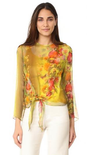Блуза с длинными рукавами Fuzzi. Цвет: мульти