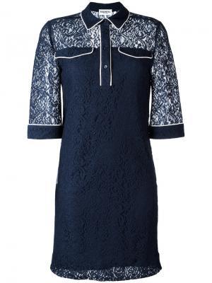 Кружевное платье-рубашка Essentiel Antwerp. Цвет: none