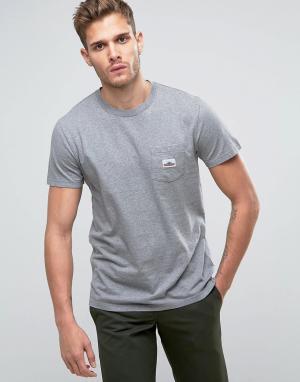 Penfield Серая меланжевая футболка классического кроя с логотипом на кармане Pe. Цвет: серый